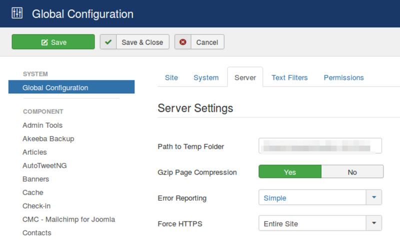 Make sure to set the Joomla error reporting to simple to help in diagnosing problems in PHP settings.
