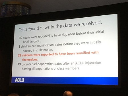 Although not statistically complex, the ACLU use of R for litigation support in the family separation case was big.